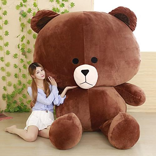 brown cuddly super soft huge