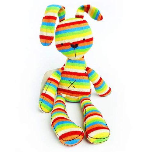 bunny rainbow plush stuffed rabbit