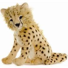 Hansa Cheetah Cub Stuffed Plush Animal, Sitting by Hansa
