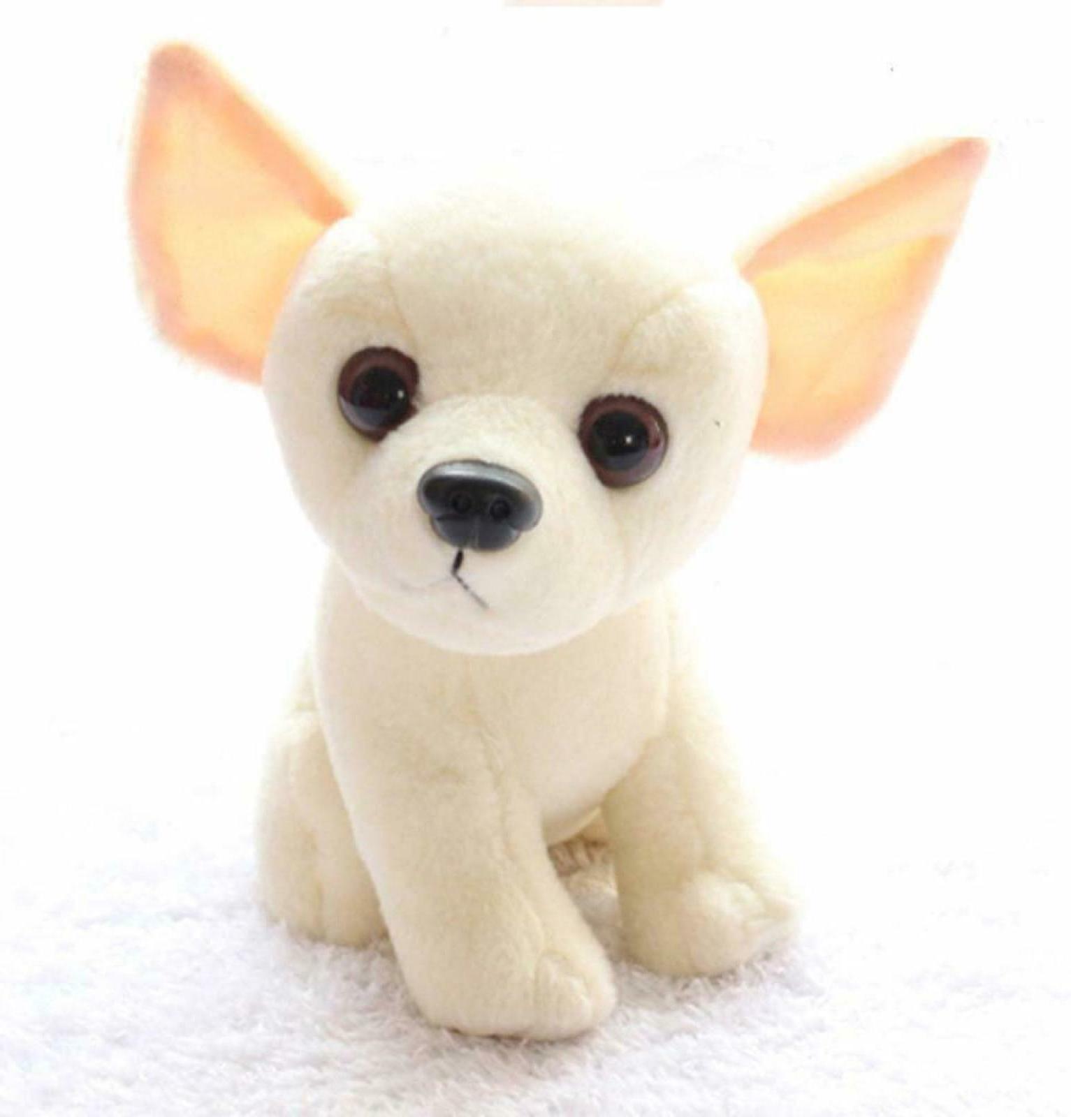 Chihuahua Dog Puppy Toy Plush Fabric Realistic Stuffed Anima
