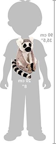 Wild Ring Lemur Stuffed Plush for Kids, Inches