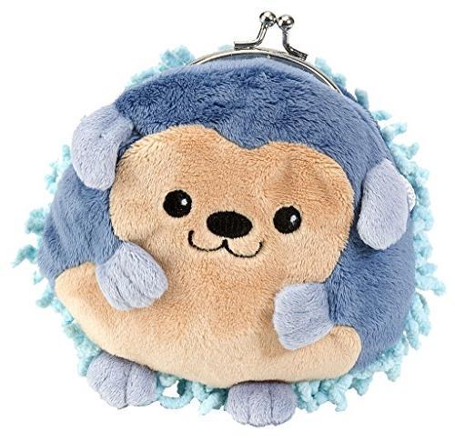clasp blue hedgehog purse