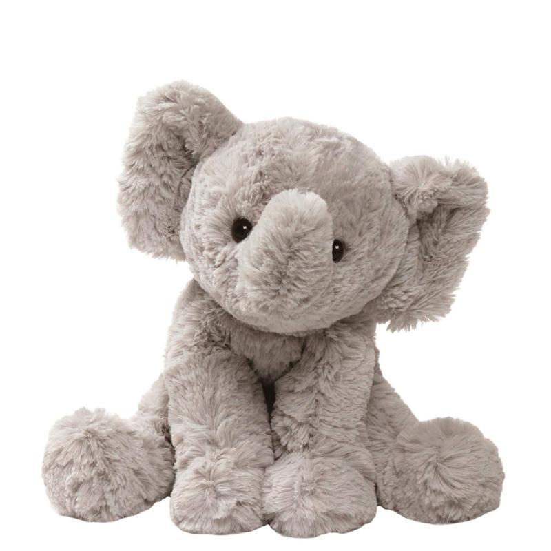 cozys collection elephant plush stuffed animal gray