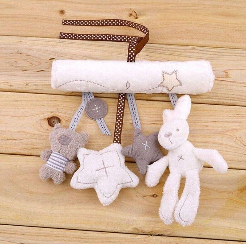 Creative Cradle <font><b>Cute</b></font> Rabbit baby bed seat plush toy Bell Plush Toys