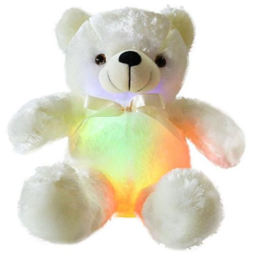 creative light inductive teddy bear