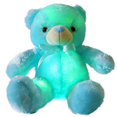 WEWILL Creative Light Up LED Inductive Teddy Bear Stuffed An