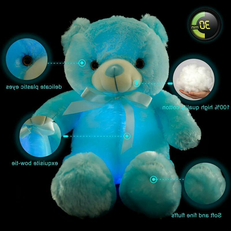 Wewill Led Bear Stuffed Plush Colo
