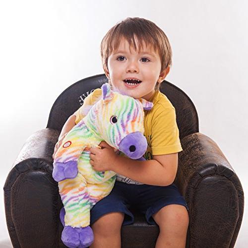 WEWILL Creative LED Stuffed Animals Colorful Lifelike Plush Toy