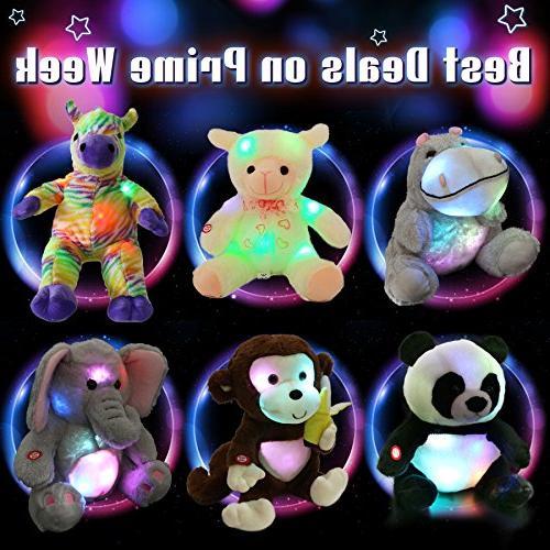 WEWILL Creative LED Lifelike Plush Gift Kids, 18-Inch