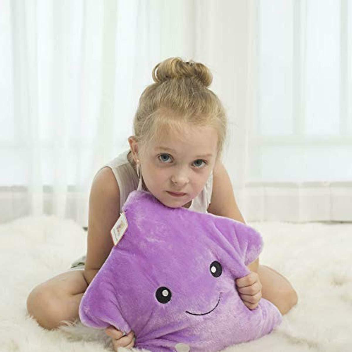 WEWILL Glowing LED Night Light Plush Pillows Stuffed