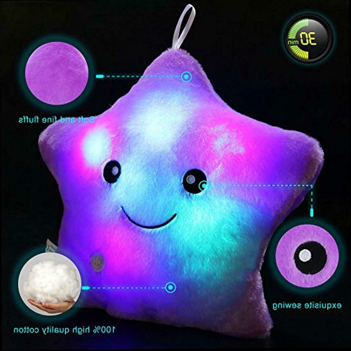 WEWILL Creative Star Glowing LED Plush Pillows