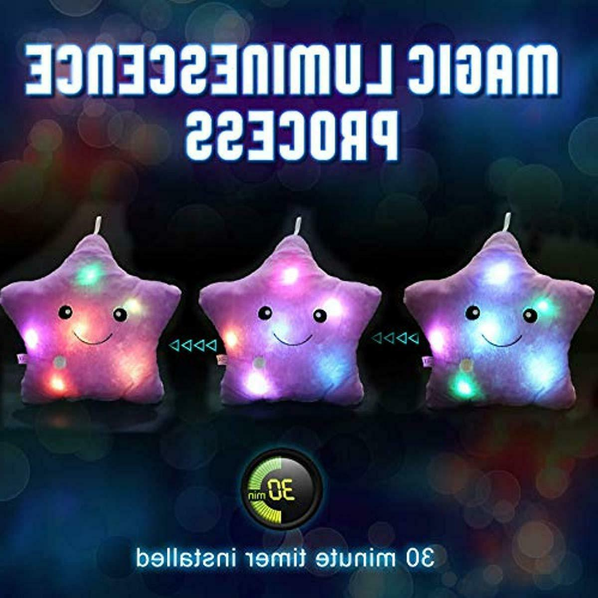 WEWILL Creative Twinkle Star Glowing LED Plush