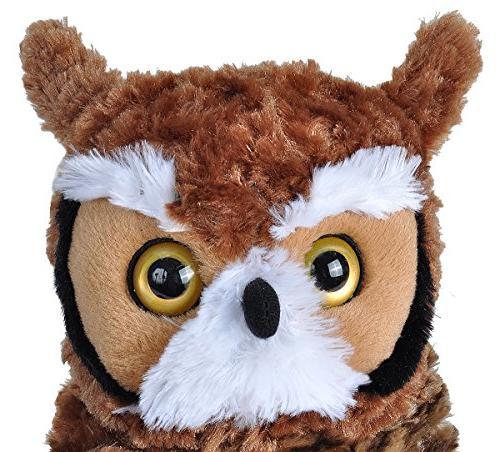"Wild Horned Owl Plush Toy, Cuddlekins 12"""