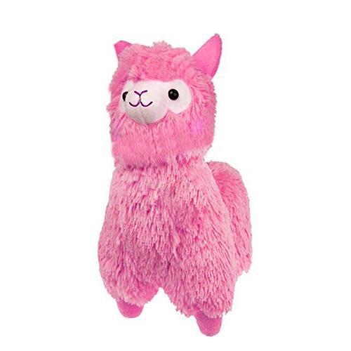 cuddly soft pink alpaca llama