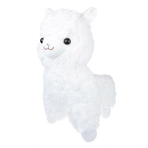 cuddly white alpaca llama lamb