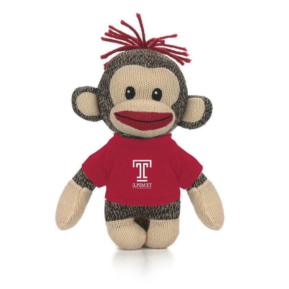 "Cute 6"" Sockie Stuffed Animals Temple University Owls t-shir"