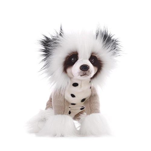 Demdaco Chinese Crested Dog Plush Toy