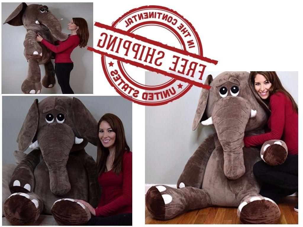 Elephant Giant Large Big Jumbo Size Stuffed Animals Plush So