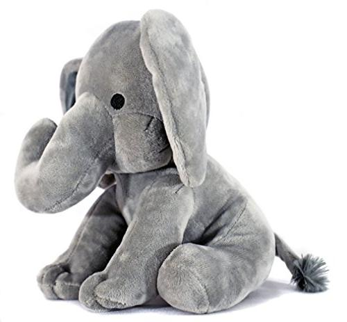 KINREX Plush Baby, - Great Nursery, Room Decor, Bed Grey - Inches