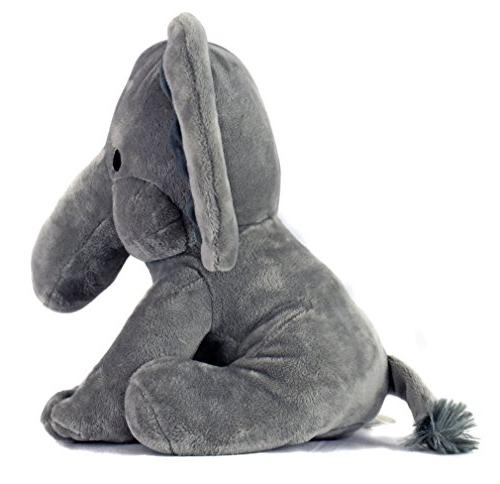 KINREX Animal Plush - for Baby, Boy, Great for Nursery, Room Decor, Bed Grey - Measures Inches