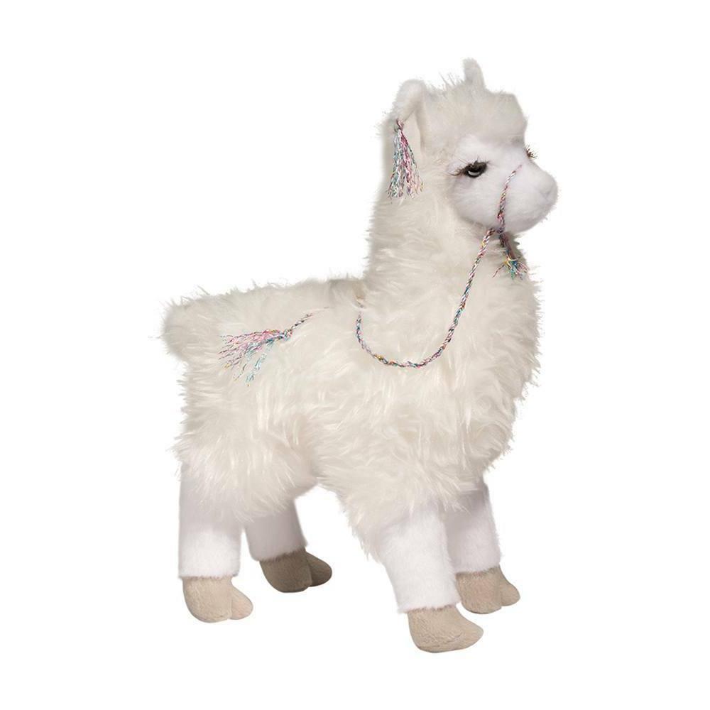 evelyn white llama plush stuffed