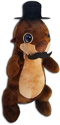 Kimler Stuffed Fancy Otter Plush - 14 inches - With Tophat,