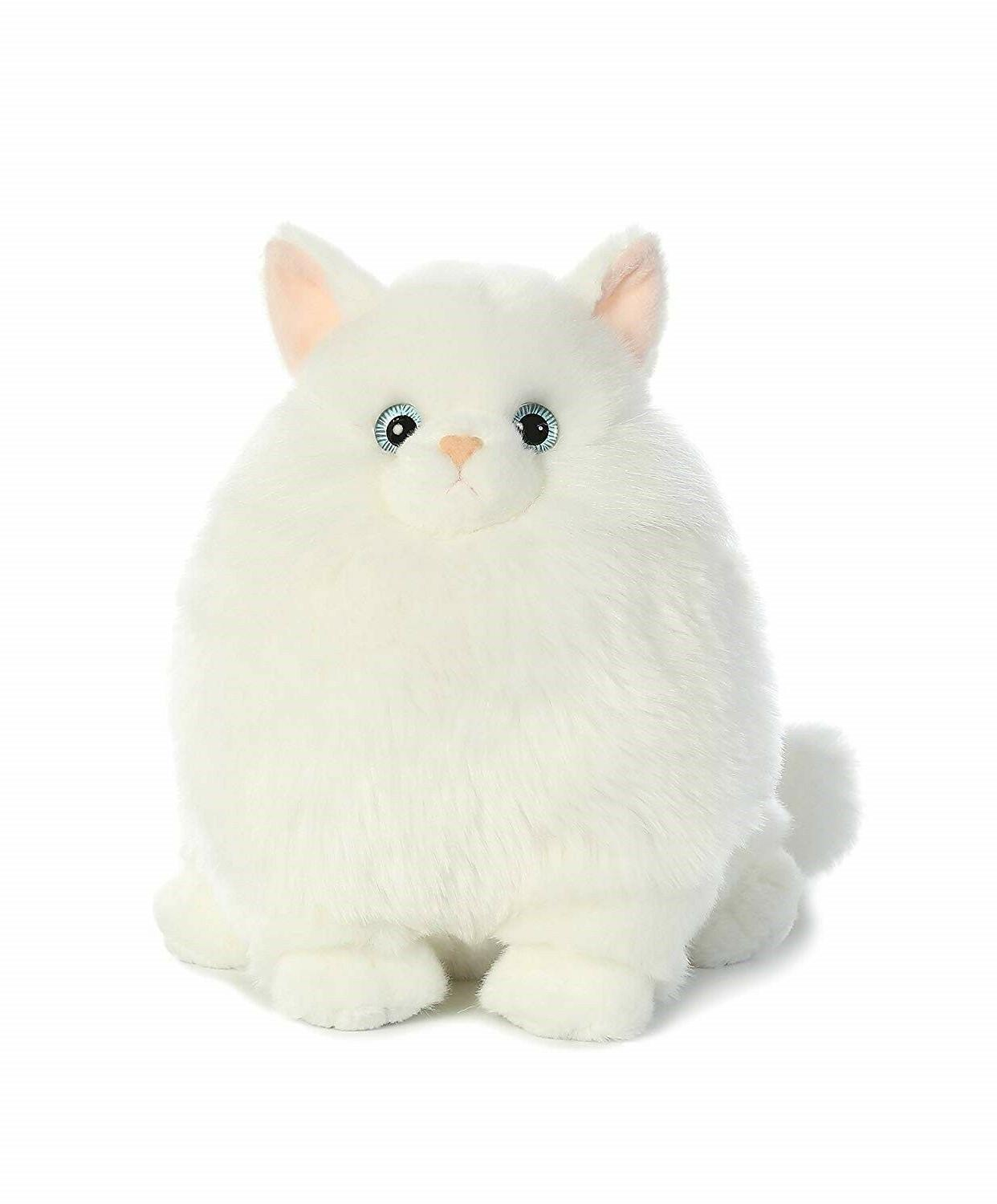 10 Inch Fat Cats Mashmallow Persian Cat Plush Stuffed Animal