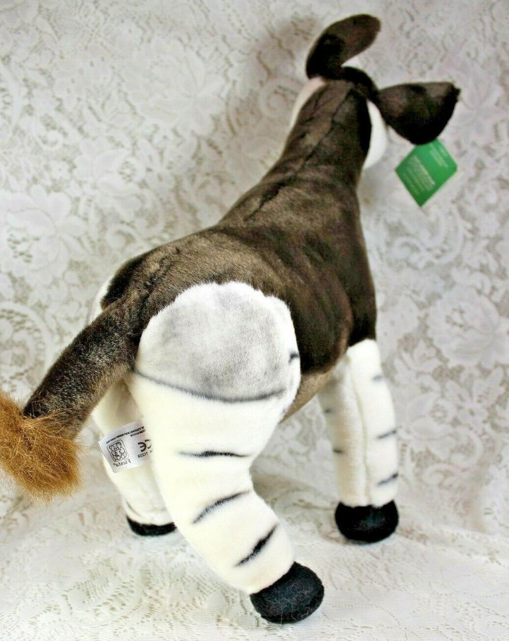 FIESTA OKAPI Plush Stuffed Animal Toy Poseable