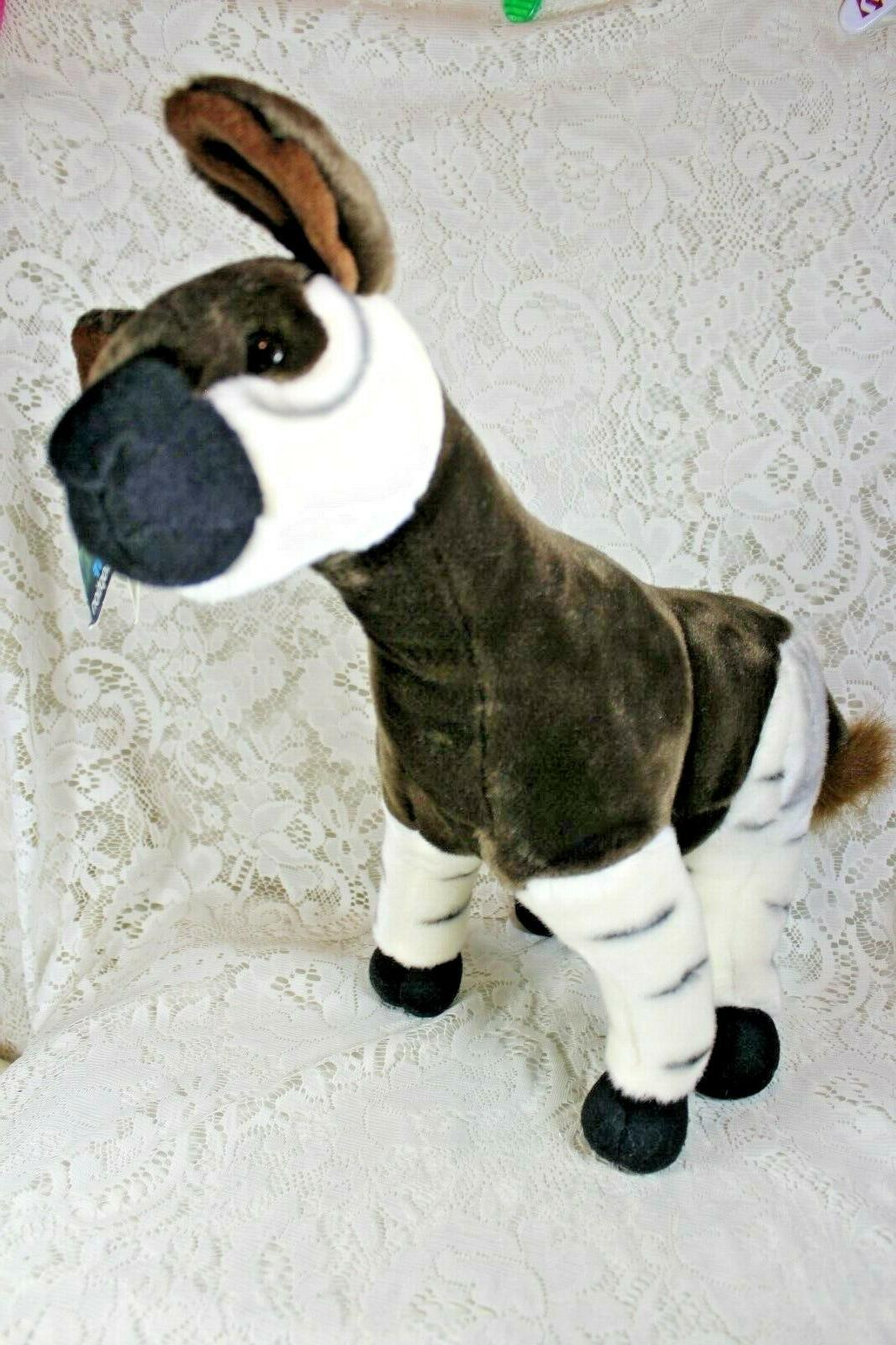 """FIESTA OKAPI Plush Animal Toy 16"""" Poseable Legs NWT 2007"""