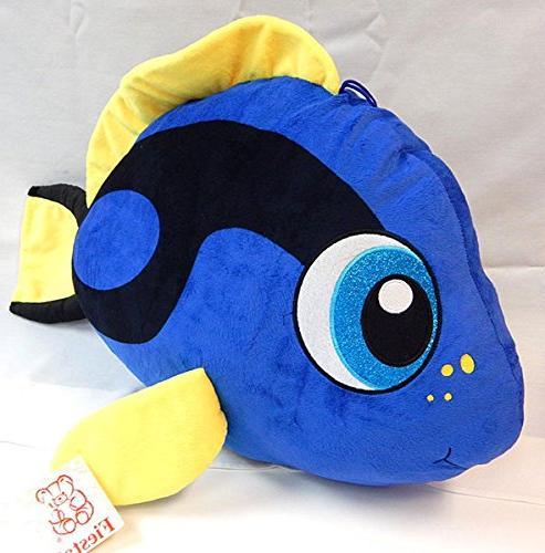 fiesta toys jumbo tang fish plush stuffed animal toy blue in