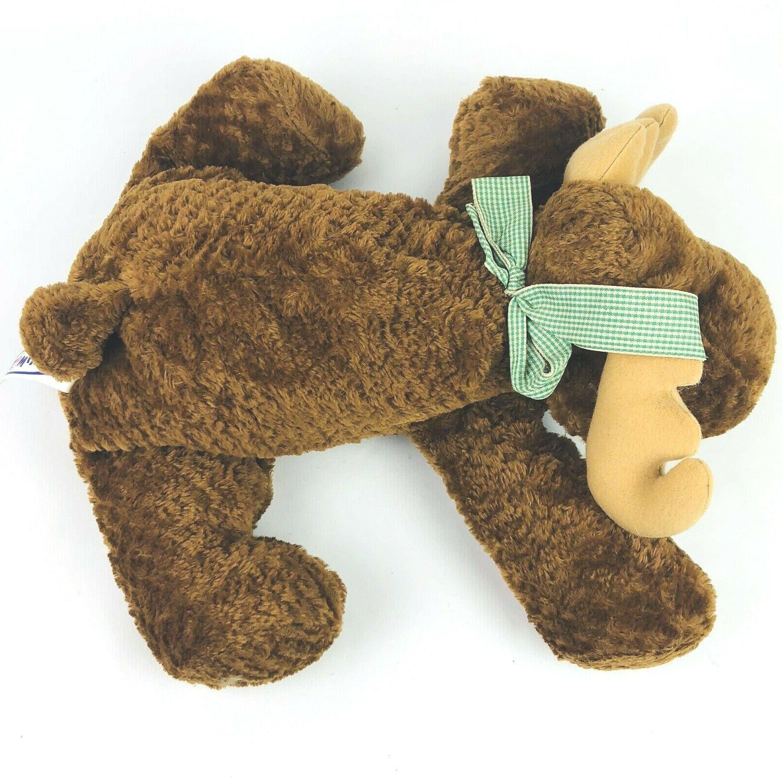 """Mary Flip Moose 12"""" 1999 Relaxed Brown Animal"""