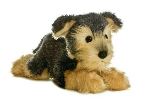 flopsie yorky plush dog
