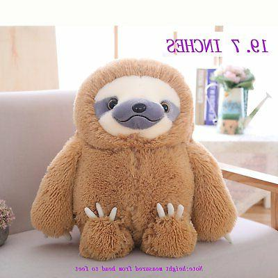 Winsterch Fluffy Sloth Stuffed Animal Toy Gift for Kids Large Plush Sloth Bear