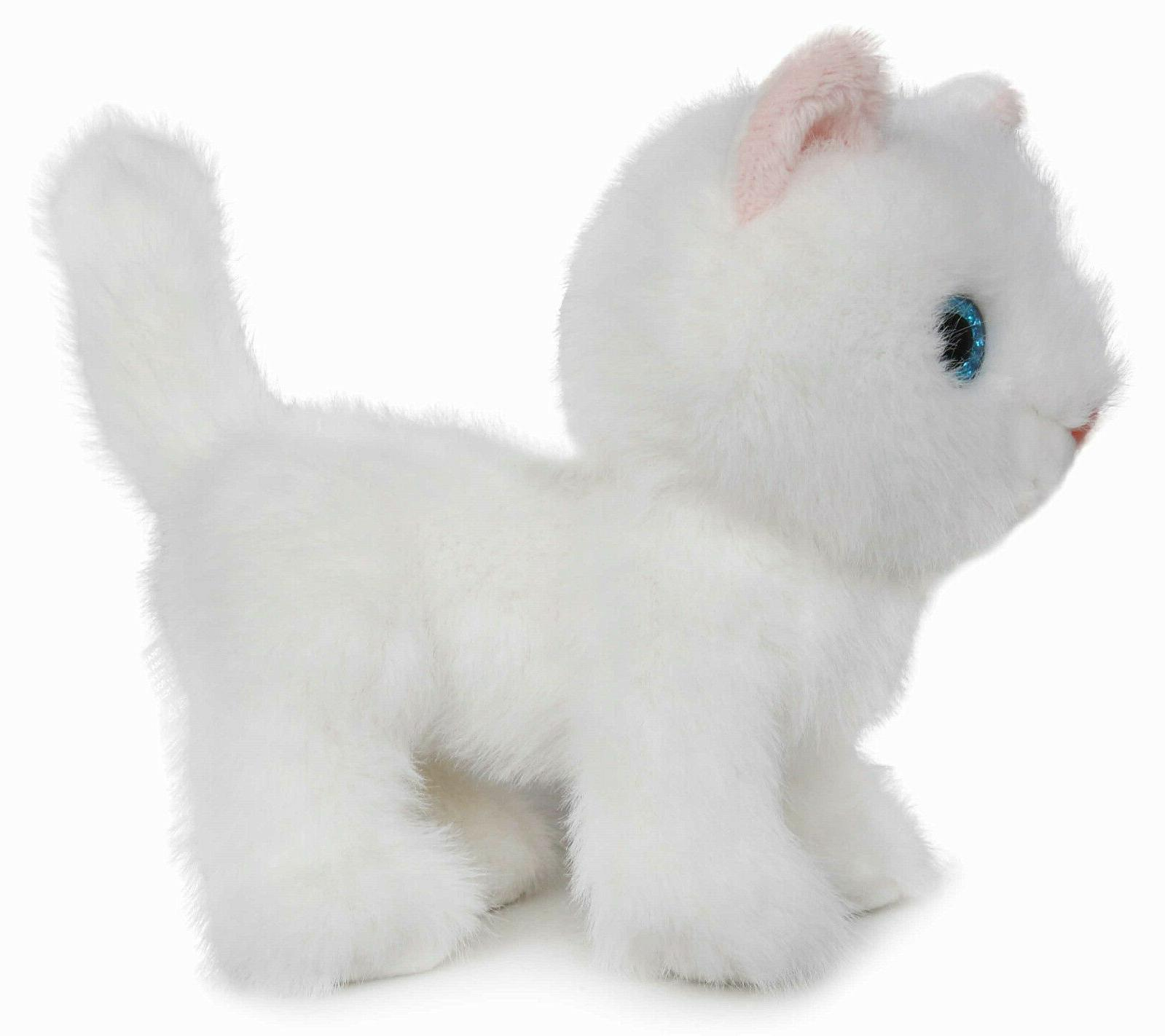 Fluffy Cat Animal Toy 6 Inches(White) - By BEAR
