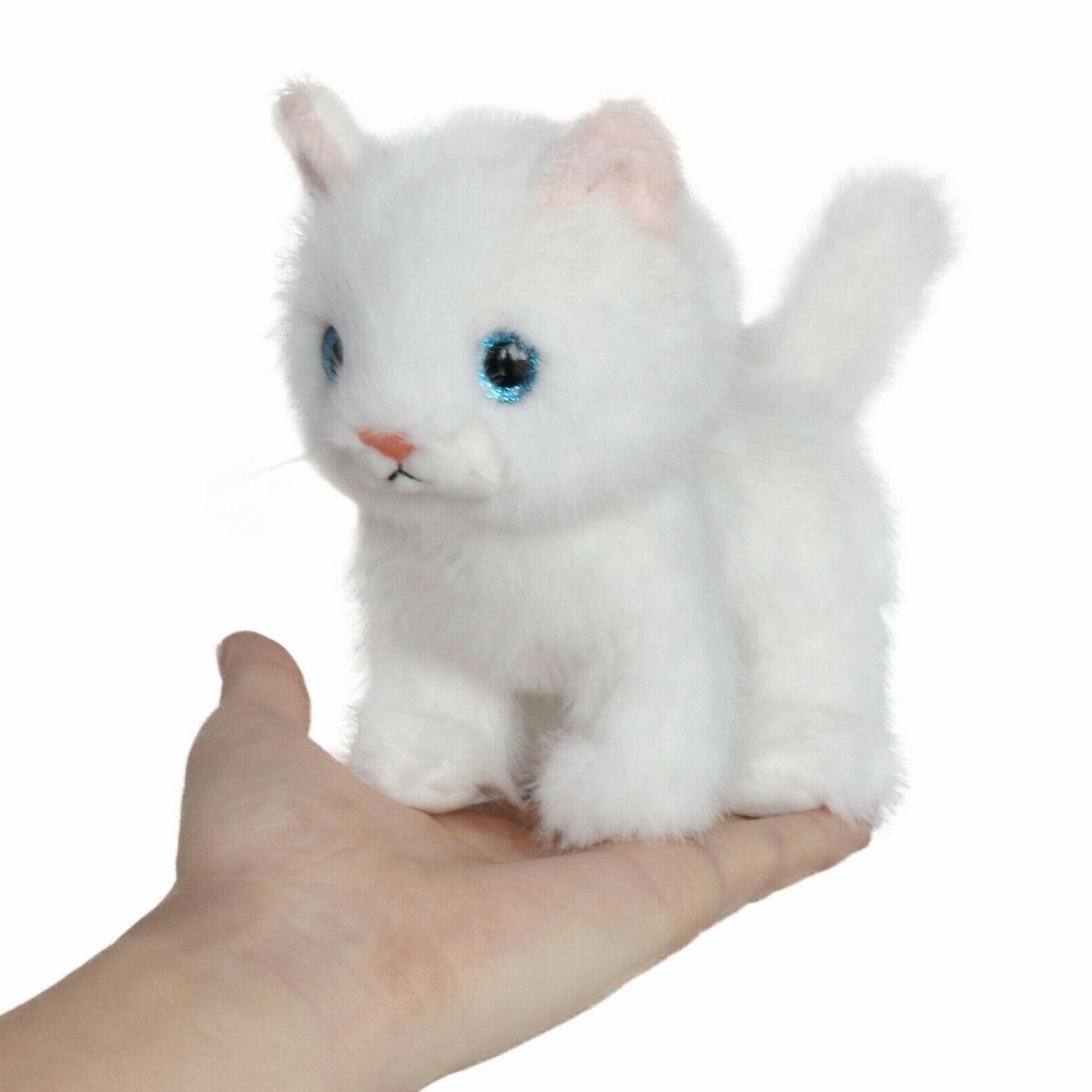 fluffy little cat stuffed animal toy 6