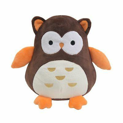 friendly forest brown plush owl