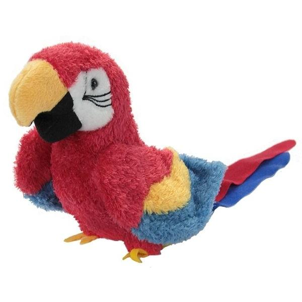 "GABBY plush 7"" PARROT stuffed animal bird scarlet macaw Doug"