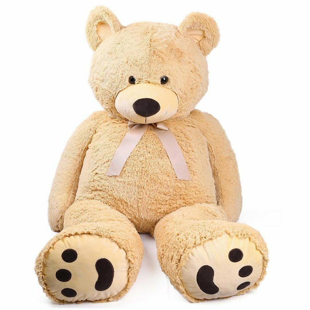 "Giant Teddy Bear 63"" Plush Stuffed Valentine Kids Birthday Xmas Gift"