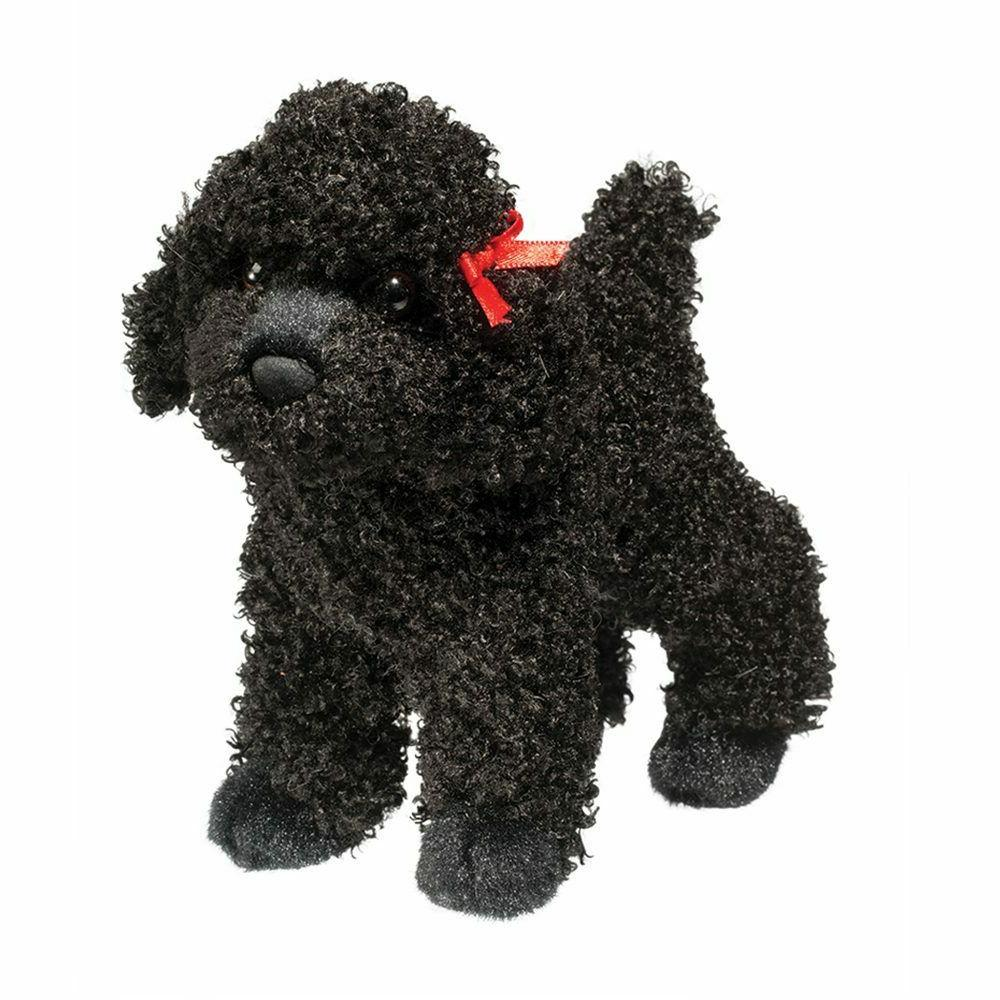 gigi black poodle plush dog