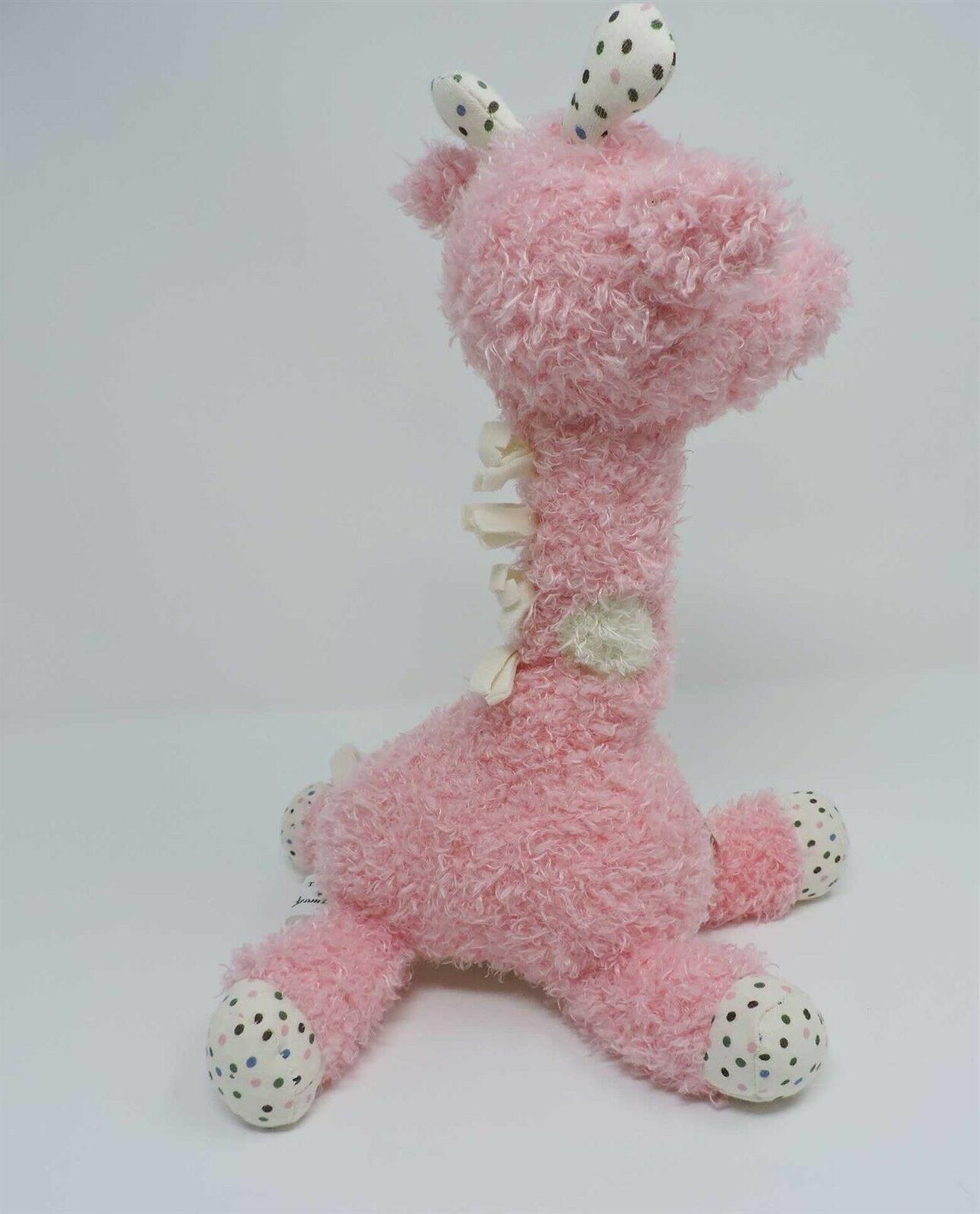 Hallmark Giraffe Plush Pink Polka Soft Eyes Toy Animal