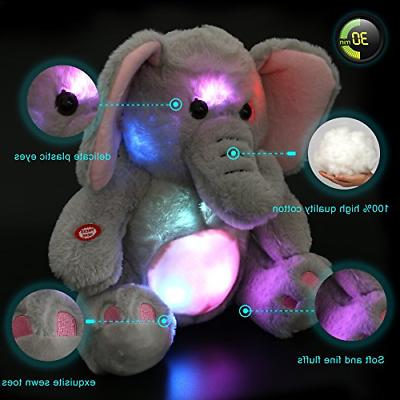 WEWILL Elephant Stuffed Animals Cozy Soft Plush Toys, Night Companion