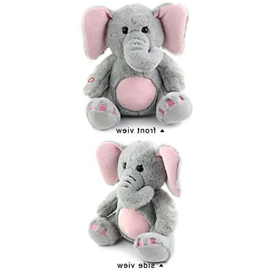 WEWILL Glow Elephant Animals Soft Toys, Night Companion