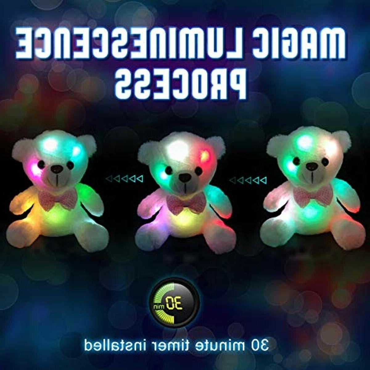 with Luminous Colorful Night Stuffed Animals