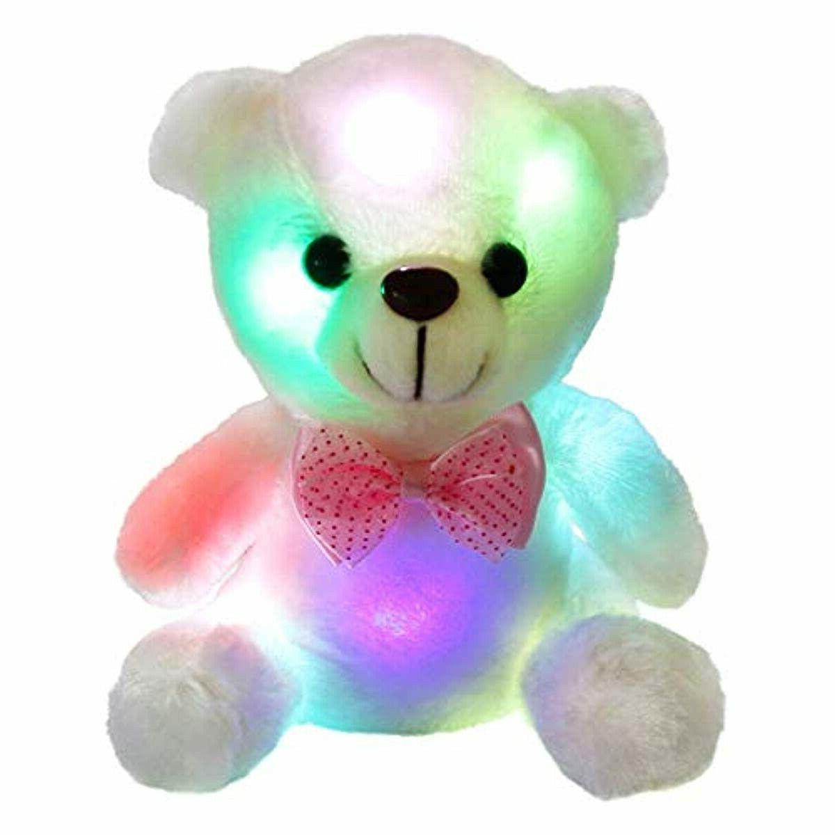 glow teddy bear with luminous led colorful