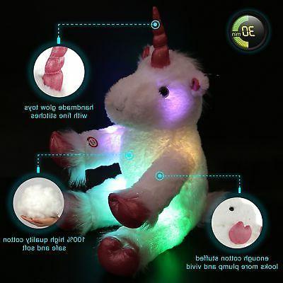 Glow LED Stuffed Animal Soft Plush Nightlight Toy