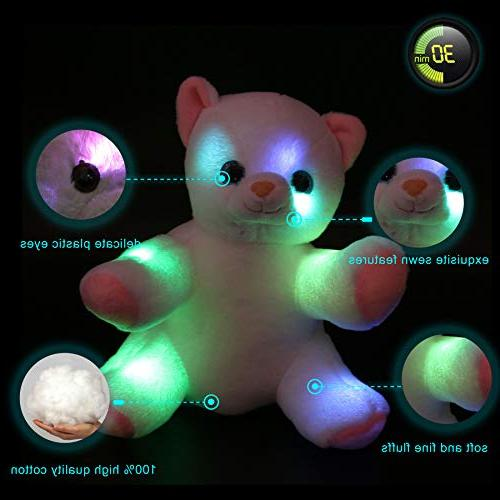 WEWILL Animals LED Kitty Light Up Soft Colorful Gift White