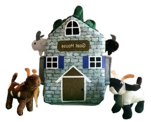 goat farm house stuffed animal