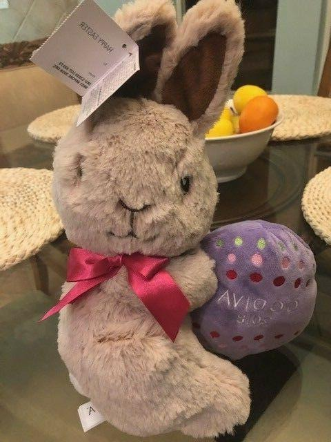 Godiva 2018 Stuffed Animal Bunny New with Tag 12 inches tall