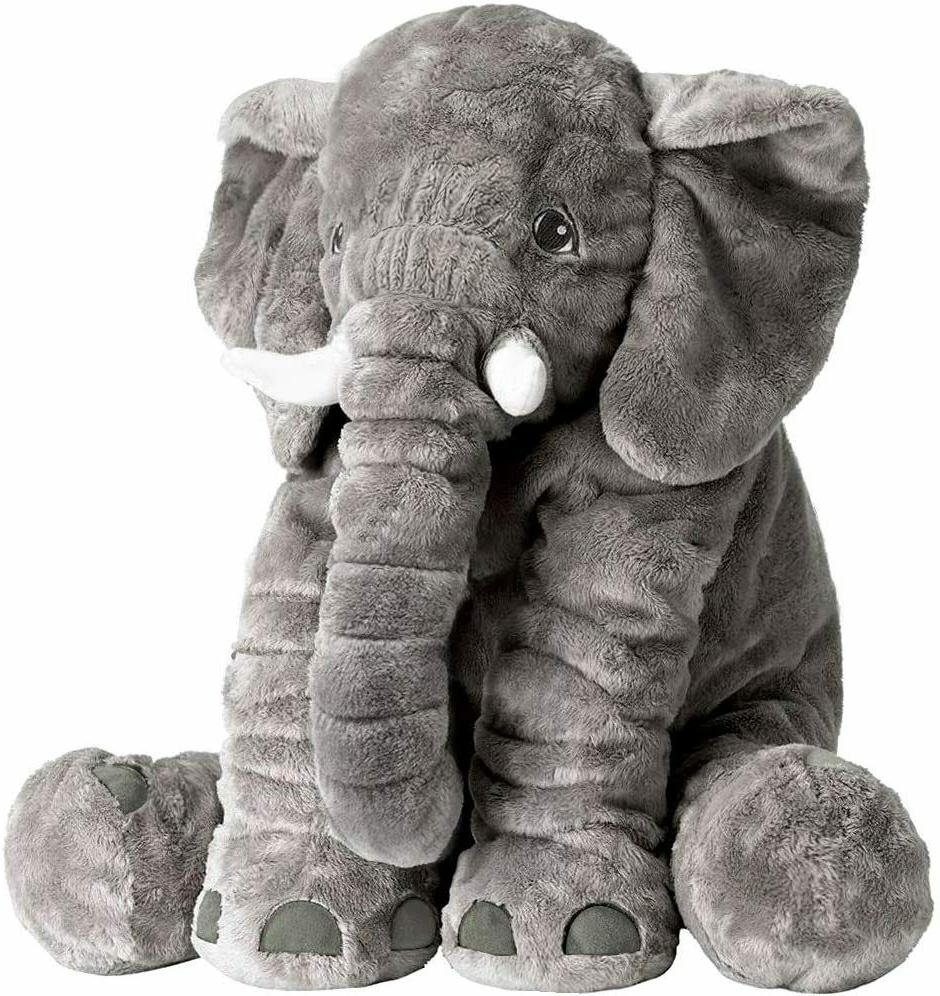 super soft stuffed elephant pillow great