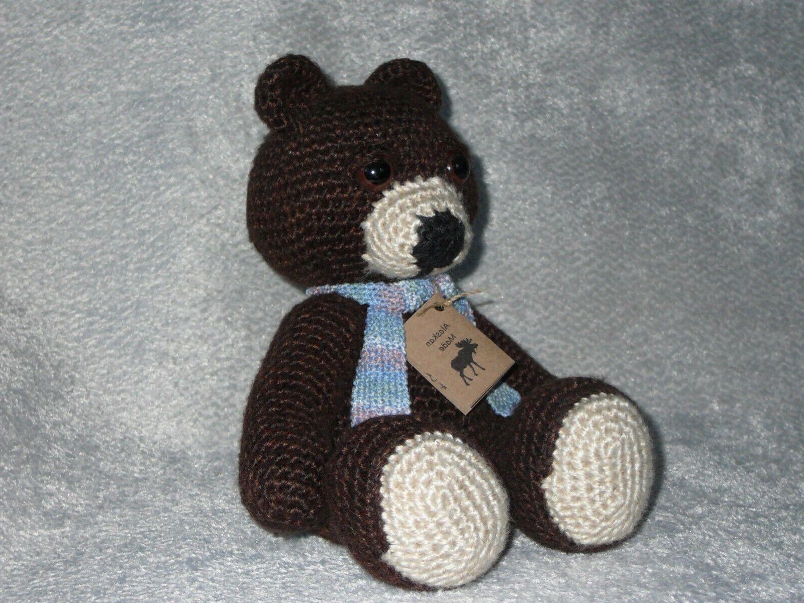 hand crocheted teddy bear hand made in